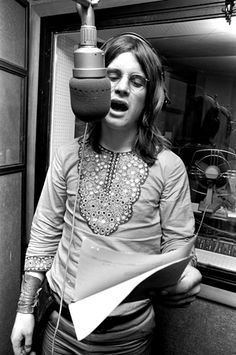 Ozzy Osbourne in 1970.  Still rockin' after 43 years in the business, 9 albums with Black Sabbath and 10 albums solo, at the age of 64.