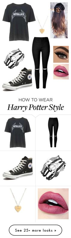 """Elle Johnson"" by kittymendes on Polyvore featuring Topshop, Converse and Seoul Little"
