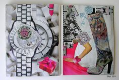 https://flic.kr/p/98Daqy | Big45 | un Año_dePelícula  January 2011 / Soul Journal / Enero 2011. 21 x 28 cms. 8.5 x 11 in. Double spread. Collage on paper. Hand made. Not digital images at all. Life. ©fdL2011
