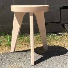 Modern Milkman, three legged stool, milking stool, end table, modern dining furniture, light wood st