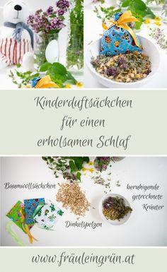 Sleep better with herbs and cuddly toys – Children's herbs for the night – – Babies Gemüseanbau In Kübeln, Kids Health, Kraut, Baby Sleep, Diy And Crafts, Herbs, Wellness, Toys, Creative