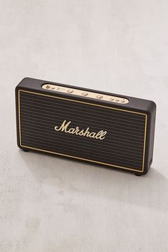 Shop Marshall Stockwell Travel Speaker + Stand Set at Urban Outfitters today. Wooden Speakers, Small Speakers, Bluetooth Speakers, Marshall Stockwell, Marshall Amplification, Travel Speakers, Speaker Stands, Marshall Speaker, Marshall Headphones