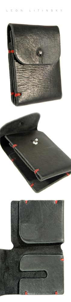 Leather Wallet by Leon Litinsky.-SR