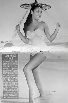 Jeanna Limyou is A Long Haired Coolie - Jet Magazine, September 30, 1954 by vieilles_annonces, via Flickr