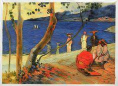 Seashore, Martinique by Paul Gauguin
