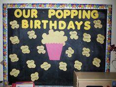 Birthday wall in my classroom Birthday Wall, Birthday Board, Bulletin Boards, School Ideas, Birthdays, Classroom, Kids Rugs, Noel, Birthday Display Board
