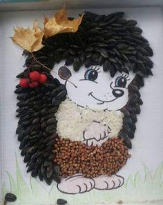 Поделки из круп и семян для детей Fun Diy Projects For Home, Bee Crafts For Kids, Diy For Kids, Fun Crafts, Diy And Crafts, Arts And Crafts, Seed Art For Kids, Autumn Crafts, Christmas Crafts