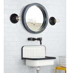 For the simple, utility sink look in a laundry closet, bathroom, kitchen or even outside, the Alape Bucket Sink delivers with style. Size and Specifications: - 20 in. wide x 13 in. high x 13 in. Alape Bucket Sink, Porch Accessories, Wall Mount Faucet, Reupholster Furniture, Medicine Cabinet Mirror, Unique Wall Decor, Vanity Sink, Decorating On A Budget, Home Renovation