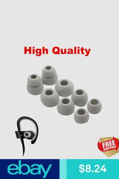 4 Pairs Replacement Eartips Powerbeats 2 Wireless Beats by dr Dre Gray Silicon Beats By Dr, Consumer Electronics, Headphones, Ebay, Products, Headpieces, Ear Phones, Gadget