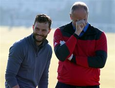 #DunhillLinks via Twitter.  St. Andrews Golf course.  A little levity on the course.  #JamieDornan