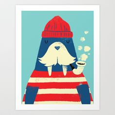 The Walrus Art Print by Monster Riot - $15.00