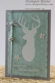 Stampin Up Remembering Christmas, Weihnachtskarte, Schiefergrau