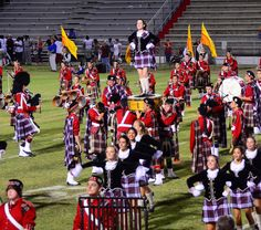 """The world-recognized Riverview High School Kiltie Band perform their """"Scottish Feature,"""" a regular halftime performance during each football game. #AdobeEduSweeps"""