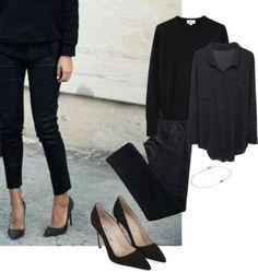 Başlıksız #115 by iyimser featuring black heel shoes ❤ liked on...
