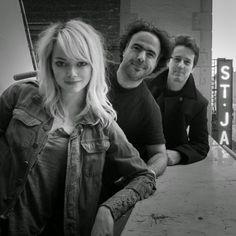 Iñarritu, Edward Norton & EmmaStone