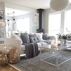Extraordinary cute living room ideas on pin by hair and beauty catalog beautiful things awesome home design Cute Living Room, Living Room Pillows, Pillow Room, Living Room White, White Rooms, Home And Living, Living Room Decor, Living Rooms, Home Interior