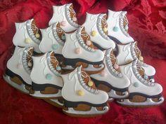 Ice skate cookie #shellshockedcookies #gingerbread #icedcookie #skatecookie #xmascookie