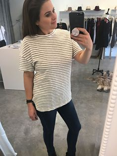 bc9b9374df9f Striped Jersey Knit Top Price  32.00 Options  Small