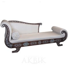 Mother of pearl Moroccan, Syrian and Levantine Furniture - Syrian Chaise Lounge inlaid with Mother of pearl.
