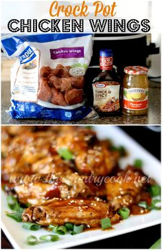 Crock Pot Chicken Wings - these are a MUST-MAKE for your Super Bowl party. These got eaten in record time once I put them out. So good!!