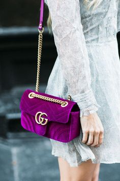 311be428fcb Gucci Marmont Velvet Crossbody Bag  designerfashionwomen  Guccihandbags  Business Outfit