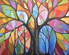 Amy Giacomelli painting print ... Colors of the Wind -- 8 x 10 Glossy Print #tree #art
