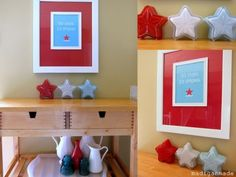 Turn Candy Dishes into Patriotic Milkglass Stars with Paint