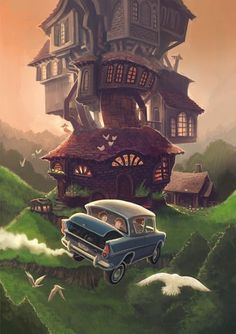 The Burrow- my favourite place in the wizarding world after Hogwarts Fanart Harry Potter, Wallpaper Harry Potter, Arte Do Harry Potter, Harry Potter Poster, Theme Harry Potter, Harry Potter Drawings, Harry Potter Love, Harry Potter Universal, Harry Potter Fandom
