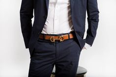 Set yourself apart with a contrasting belt.