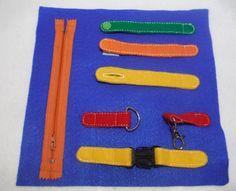 Fastener Quiet Book activity Page  Snap Button Zipper Buckle