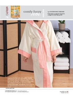 This file contains pattern pieces only.Project instructions are in Stitch magazine's Spring 2013 issue. Slipping into this soft and cuddly chenille and flannel robe will make you want to brew a pot of tea and get started on a long novel. Download Now Other sewing topics you may enjoy:Sashiko-Embroidered Yoga PantsUptown/Downtown Skirt: Free Sewing PatternSweet…