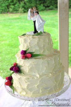 Cake bride look much happier