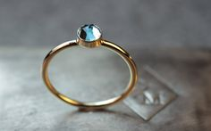 Blue Topaz Solitaire Ring - CHINCHAR•MALONEY