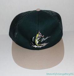 db4cc86d5c8 NEW Bass Vtg YoungAn Fishing Green Tan Cotton Mesh Snapback Trucker Hat One  Size  YoungAn  SnapbackTrucker