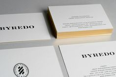 BUSINESS CARDS Byredo Parfume by Acid And Marble© , via Behance
