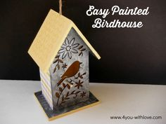 Create an easy painted birdhouse with supplies from @plaidcrafts and Wood Surfaces from Michaels  #madewithmichaels #plaidcrafts #ad