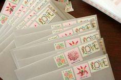 Using multiple stamps on invitations to maximize cuteness effect - #invitation #stamp #post
