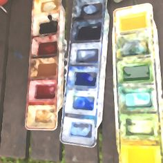 colors Ice Cube Trays, Colors, Watercolor Painting, Ice Makers, Colour, Color, Paint Colors, Hue