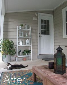 back porch before and after | Porch Storage After1