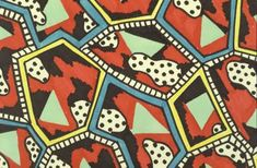 Nathalie Du Pasquier textile for Memphis, the groundbreaking group that included Ettore Sottsass. Founding member of Memphis.