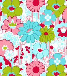 Fabric Central Honeydew Collection- White Mod Floral & quilting fabric & kits at Joann.com