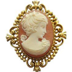 Vintage Cameo Perfume Locket Brooch Unused 1970 Mint Avon. Vintage Jewelry under $25 at Ruby Lane @Ruby Lane