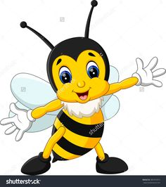 Illustration Of Cute Bee Cartoon - 385741813 : Shutterstock