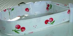 Cherries & Cream Dog Collar Made to Order  Your by katiesk9kollars, $15.00