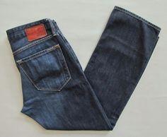 Mavi Mens Zach Jeans 33 29 Straight Fit Regular Rise Dark Distress Cotton Denim #MaviJeans #ClassicStraightLeg