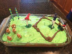 Baseball cake side view