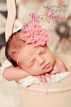 15 off UR order.Baby Girl Headband..Newborn by HartsandRoses