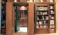False bookcase to the gun room