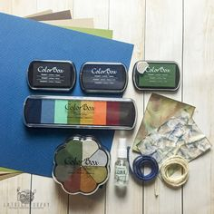 ColoBox Pigment Ink camouflage card