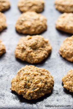 Zucchini Bread Quinoa Breakfast Cookies - a decadent and healthy way to start your day || www.simplyquinoa.com || gluten-free